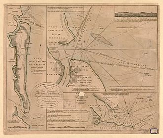 Fort San Carlos - Plan of Amelia Island. 1770 (1777)