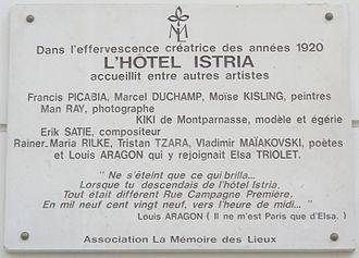 Moïse Kisling - Commemorative plaque, 29 rue Campagne-Première, Paris, 75014
