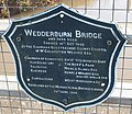 Plaque on Wedderburn Bridge - geograph.org.uk - 686812.jpg