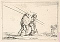 Plate 13- Two pikemen walking towards the right, each with their pikes in their right hands, from 'Various Figures' (Agréable diversité de figures) MET DP833165.jpg
