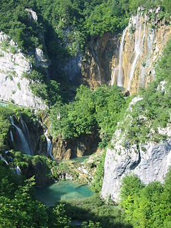 The Plitvice Lakes, a UNESCO World Heritage Site.