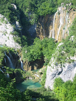 Plitvice Lakes National Park - The large waterfall