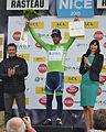 Poduim - Michael Matthews maillot vert Rasteau cropped.jpg