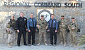 Police chiefs from the Colorado Springs, Colo., area pose for a photo with Regional Command South Service members at Kandahar Airfield, Afghanistan, Dec. 14, 2013, before a meeting with local Afghan police 131214-Z-MH103-001.jpg