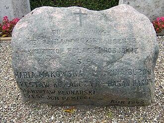 Magleby Church - Stutthof stone in Magleby churchyard