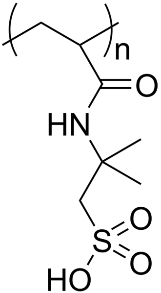PolyAMPS - Chemical structure of polyAMPS