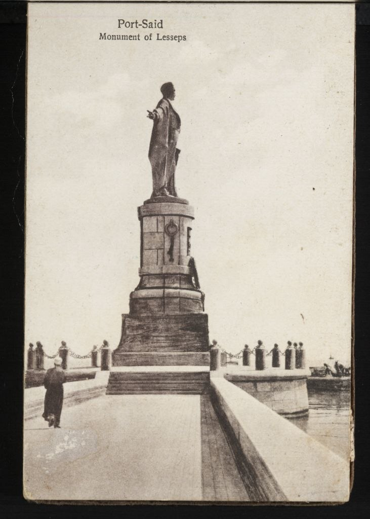 Port Said, Monument of Lesseps (n.d.) - front - TIMEA