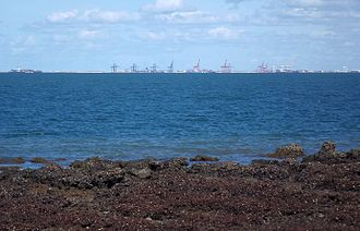 Port of Brisbane - View from Redcliffe, 2016