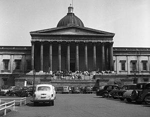 Tan Boon Teik - The Wilkins Building of University College London on Gower Street in May 1956