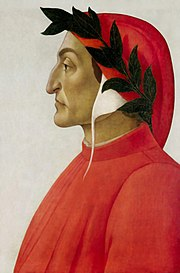 Profile portrait of Dante, by Sandro Botticelli (1444–1510).