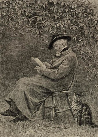 Portrait of Carlyle in his garden at Chelsea Portrait of Carlyle in his garden at Chelsea (4671347).jpg