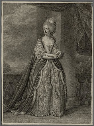 John Stuart, 1st Marquess of Bute - Charlotte Jane Stuart, Marchioness of Bute, 1790s engraving