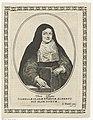 Portret van Isabella Clara Eugenia gekleed als non in ovaal Vera Effigies Isabellae Clarae Evgeniae Alberto Pio Olim nuptae (titel op object), RP-P-1905-670.jpg