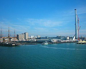 James Mudie - Portsmouth Harbour, present day