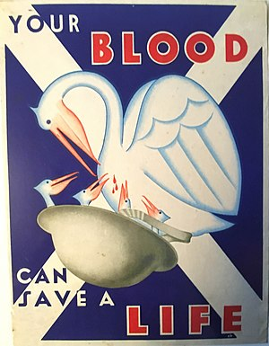 Scottish National Blood Transfusion Service - 1944 SNBTA Recruitment Poster by K. M. Munnich