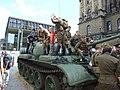 Praha, Nové Město, sovětský tank před Národním muzeem II.jpg
