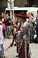 Praha, Staré Město, Prašná brána, čínské tradiční hudební nástroje.JPG