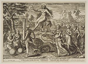 Zerubbabel - Praise of Truth by Phillips Galle after Gerard Groenning 1638.