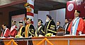 Pranab Mukherjee at the 64th Convocation of Punjab University, in Chandigarh, Punjab. The Governor of Punjab and Haryana and Administrator UT of Chandigarh, Shri Kaptan Singh Solanki, the Chief Minister of Haryana.jpg