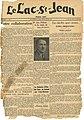 Première édition du journal le Lac-Saint-Jean, Alma (Québec)..jpg