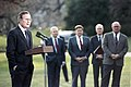 President George H. W. Bush holds a press conference on the South Lawn.jpg