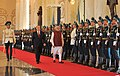 Prime Minister Narendra Modi receives a guard of honour in Kazakhstan.jpg