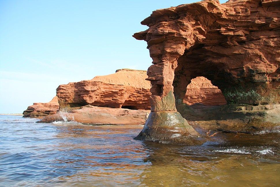 Prince edward island sandstone arch