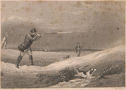Print, 1866, by Edward Hacker (1813-1905), after Abraham Cooper, RA, (1787–1868), shooting scene, UK.jpg