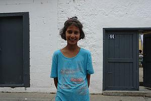 Romani people in Kosovo - Romani girl in Prizren