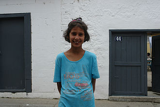 Romani people in Kosovo - Romani girl in Prizren