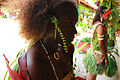 Profile of a girl in traditional dress at the Commonwealth Youth Program (CYP) offices in Honiara. (10715329294).jpg