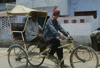 Institute for Transportation and Development Policy - A modernized cycle rickshaw in Vrindavan, India