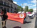 Protesta en favor de los profesores de Oaxaca, en la plaza principal de Aguascalientes (junio, 2016) 1.jpg