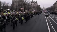 File:Protesters Take to Parade Route.webm