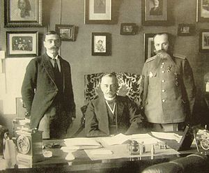 Alexander Protopopov - Alexander Protopopov and two aides, September 1916