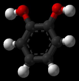 Catechol - Image: Pyrocatechol 3D balls