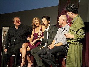 Red Dawn (2012 film) - Dan Bradley, Adrianne Palicki, Josh Peck, Tripp Vinson and Fantastic Fest founder, Tim League at the world premiere of Red Dawn in Austin, Texas.