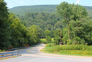 Jackson Township, Northumberland County, Pennsylvania - Herndon Bypass Road and Little Mountain