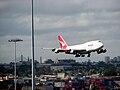 Qantas 747 landing at Sydney Airport.JPG