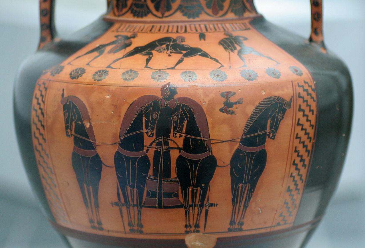'4頭立ての戦車(ミュンヘン古代美術博物館、紀元前540年頃)' by MatthiasKabel