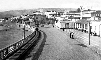 Praia da Vitória - A view of the main strip in Praia da Vitória during the middle of the 20th century