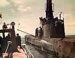 Queenfish (SS-393) before she is sunk.jpg