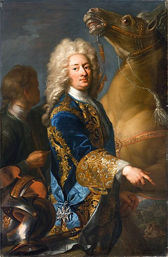 William VIII, Landgrave of Hesse-Kassel - Portrait of William VIII with the Order of the White Eagle, 1729 (Royal Castle in Warsaw)