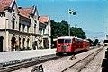 Rälsbusståg vid Visby station 1960.jpg