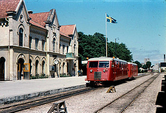 Visby - Train at Visby railway station the last year of traffic, 1960