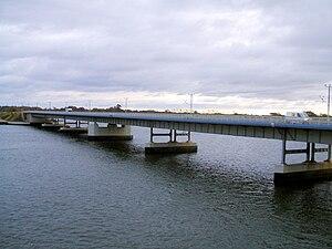 Stralsund–Sassnitz railway - Strelasund Bridge