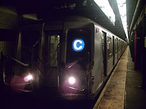 R40/A (New York City Subway car) - Image: R40 C train @ W4 Washington Sq