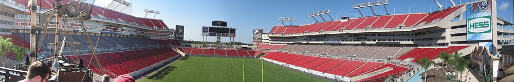 Panoramic view from The Pirate Ship during the 2009 off-season