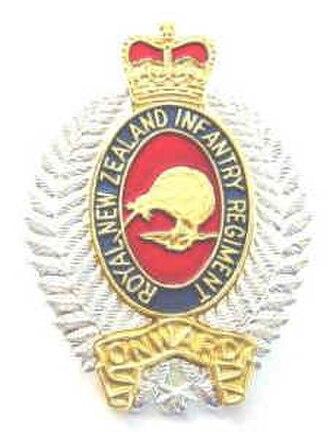 Royal New Zealand Infantry Regiment - Cap badge of the Royal New Zealand Infantry Regiment