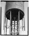 ROWS OF LEGS SUPPORTING TANK, TO EAST. - Southern Pacific Depot, Water Tower, 65 Cahill Street, San Jose, Santa Clara County, CA HAER CA-304-8.tif